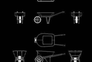 Wheel Barrow DWG CAD Block