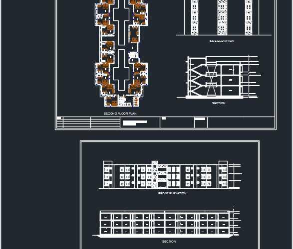 Hostel dwg plan