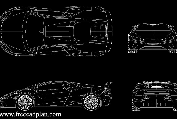 Lamborghini Huracan Performante DWG