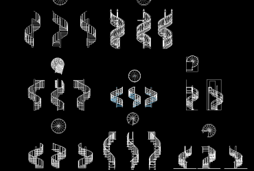 Spiral Staircase DWG CAD Block