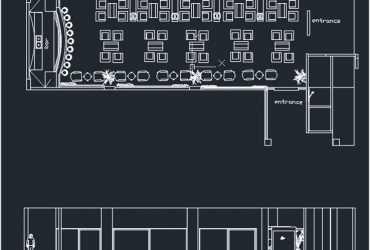 Cafe bar dwg floor plan