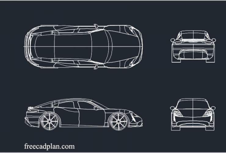 Porsche Taycan 2021 dwg