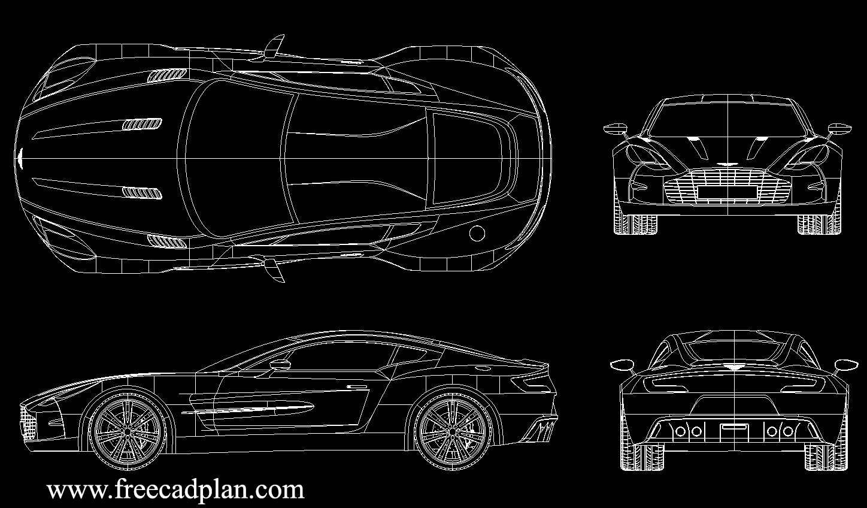 Aston Martin One 77 Dwg Cad Block Download Autocad Free Cad Plan