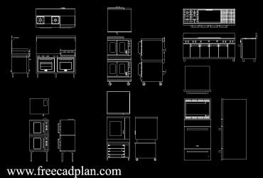Commercial oven DWG CAD Block