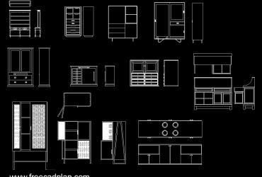 Cupboard DWG CAD Block