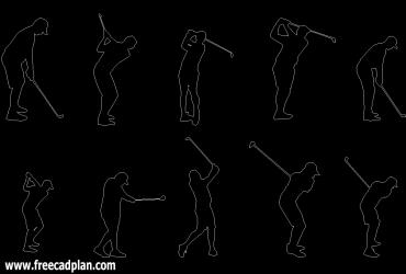 Golfer DWG CAD Block