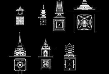 Pagoda DWG CAD Block