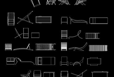 deckchair DWG CAD Block