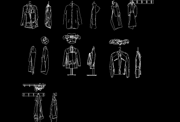 jackets DWG CAD Block