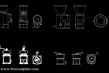 Coffee Grinders DWG CAD Block
