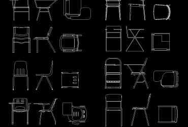 Student Chair DWG CAD Block