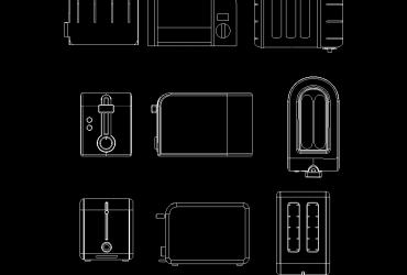 Toaster DWG CAD Block