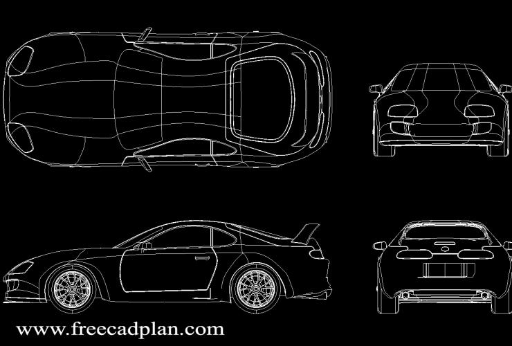 Toyota Supra MK4 DWG