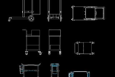Cleaning Trolley DWG