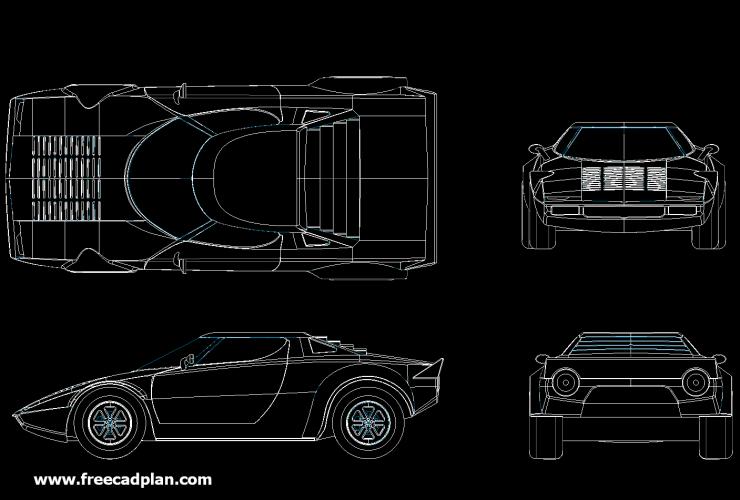 Lancia Stratos HF CAR DWG
