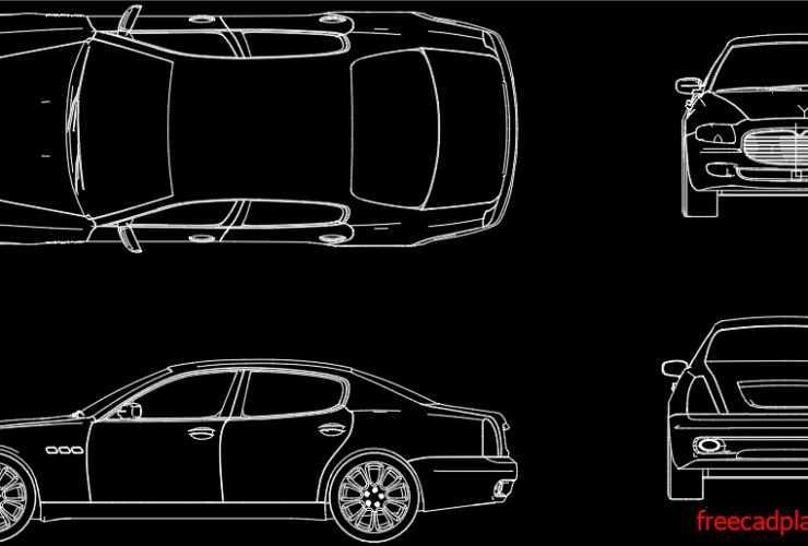Maserati Quattroporte V dwg