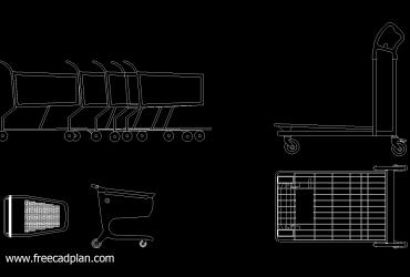 Shopping Cart DWG CAD Block