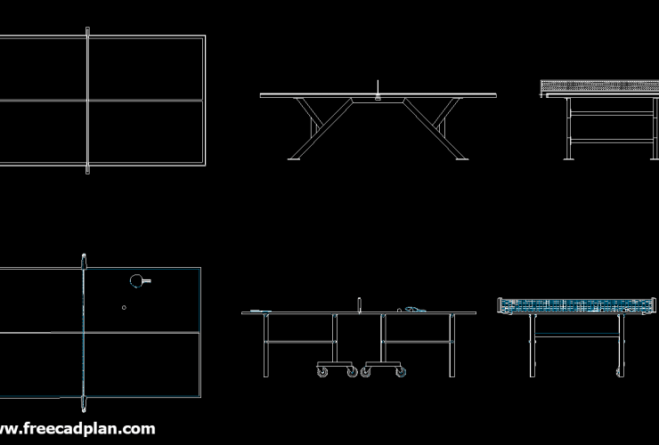 Ping Pong Table DWG