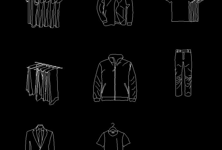 Clothes CAD BLOCK