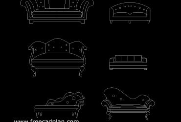 Divan (furniture) DWG