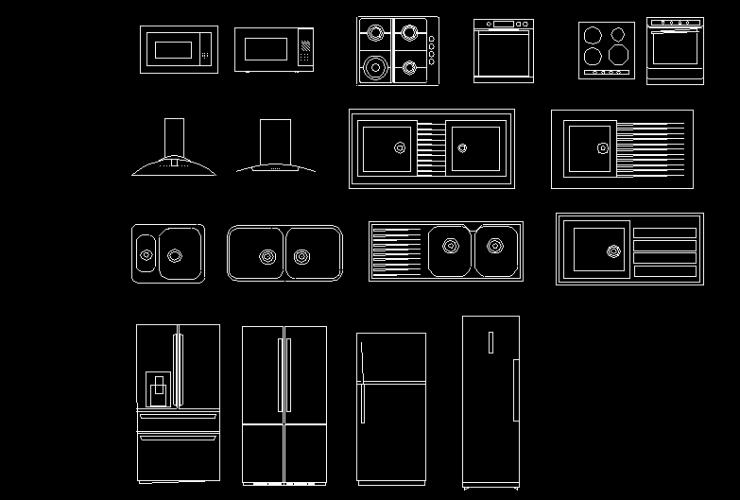 kitchen equipment-blocks