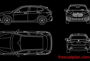 BMW 1 Series 2021 cad block