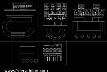 Bar Counter DWG CAD block