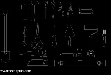 Construction tools CAD block