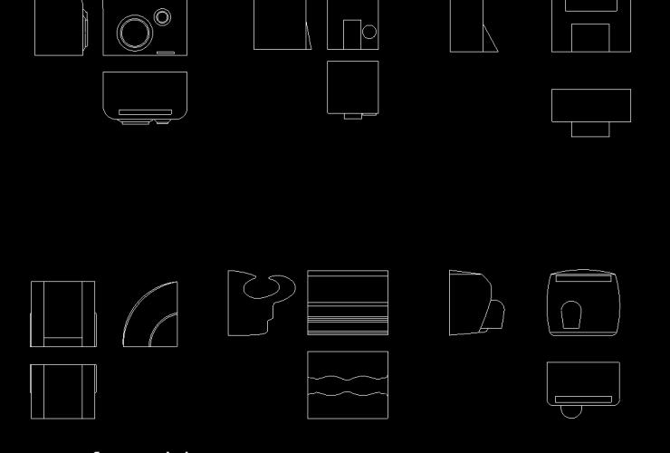 Hand Dryer DWG CAD block