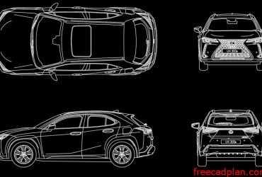 Lexus UX 300e 2021 dwg cad block