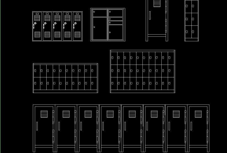 Locker DWG CAD block