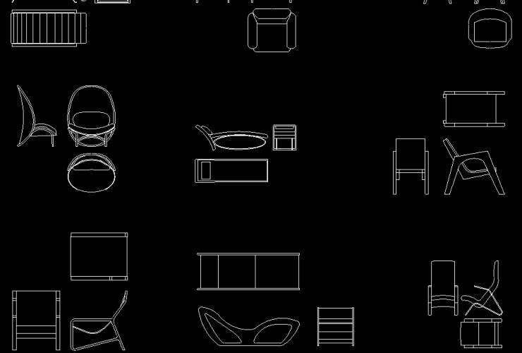 Lounge Chair DWG CAD Block