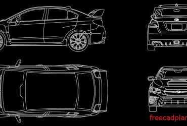 Subaru WRX 2021 dwg cad block