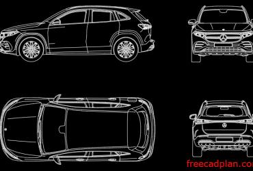 Mercedes-Benz EQA 2021 dwg
