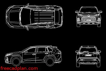 Suzuki Across 2021 dwg cad block