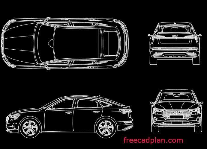 Audi e-tron Sportback 2021 dwg cad block