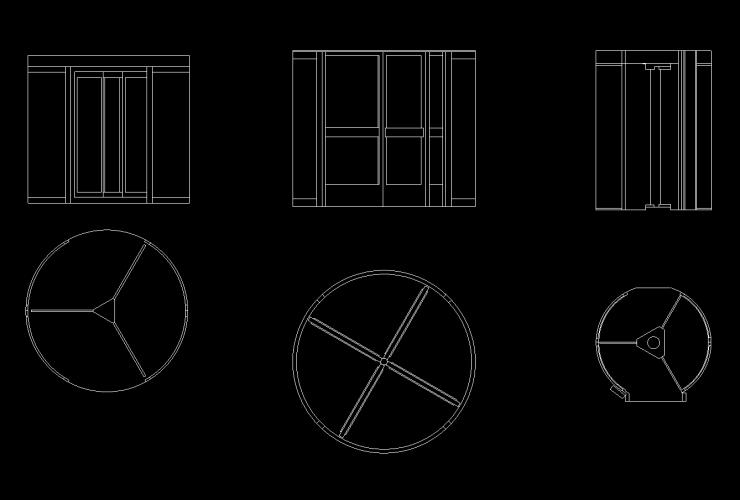 Revolving Door DWG CAD Block
