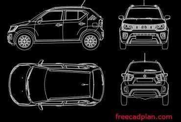 Suzuki Ignis 2021 dwg cad block