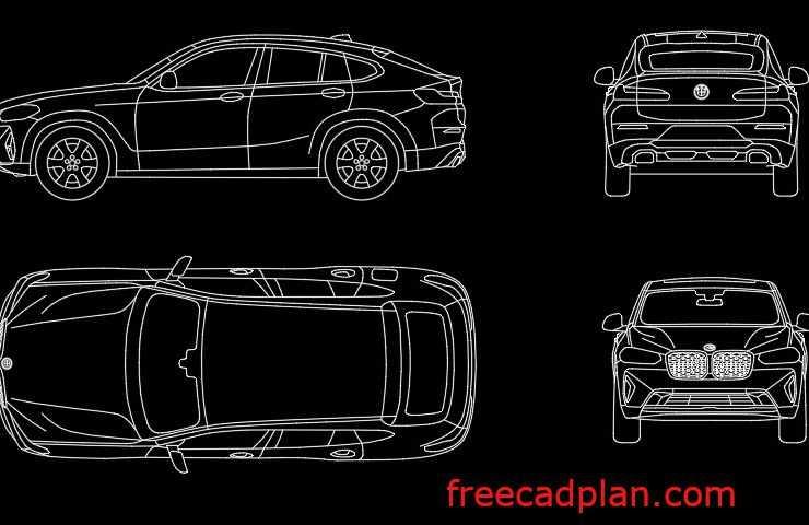 BMW X4 2021 dwg cad block